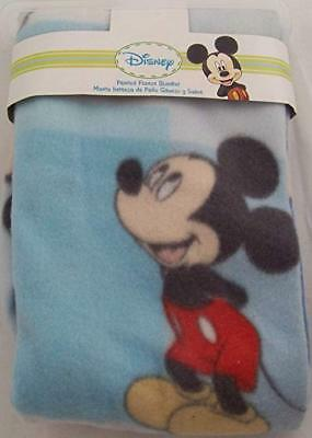 Disney Mickey Mouse Printed Baby Fleece Blanket, Blue, Style #82425 Gift
