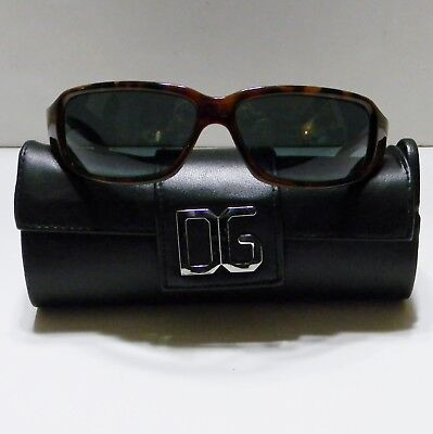 e4a30a4ffdb VGUC Dolce   Gabbana Women s Sunglasses Brown Tortoise Shell Wrap w  case   2075