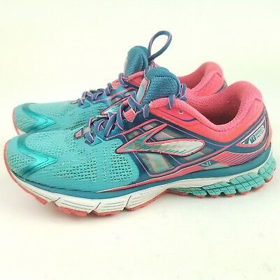 1271499056e4 Brooks Ravenna 6 Women s 10 Blue Pink White Lace Up Athletic Running Shoes