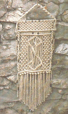 Make This 1970's Macrame Wall Hanging - Copy Pattern Only