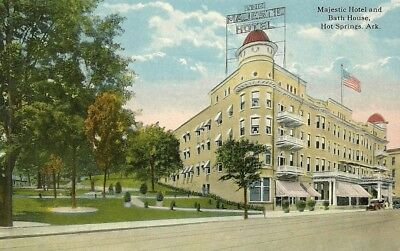 Majestic Hotel And Bath House, Divided Back, Unposted, Hot Springs, Arkansas