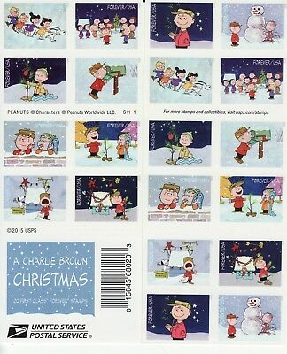 A Charlie Brown Christmas Stamp Booklet -- Usa #5030 Forever