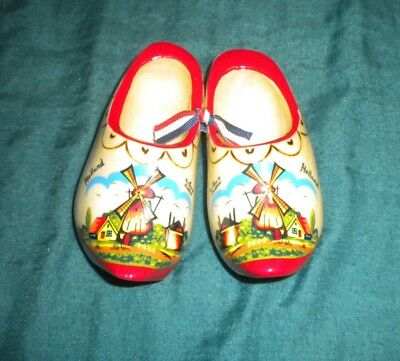 Mieco Zwidekzee Holland Dutch Wood Wooden Shoes Clogs Signed
