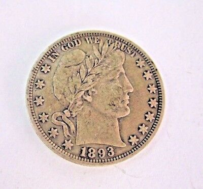 * 1893 United States Of America Barber Half Dollar
