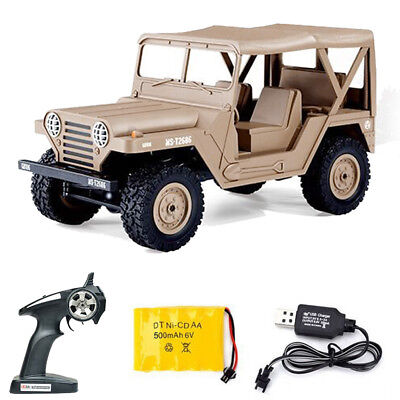 Military Off-Road Truck Remote Control Climbing 1:14 RC Car with Headlights New