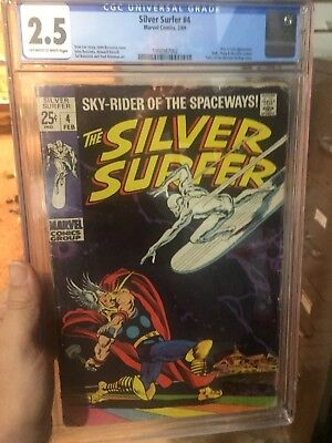Silver Surfer 4 CGC 2.5 Key Issue Classic Cover Great Christmas Gift