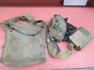 WW1 USGI Gas Mask and Carrier