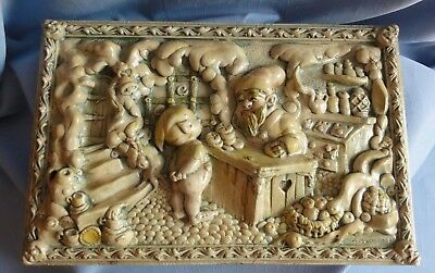 Pendelfin RARE FAIRY SHOP PLAQUE Very old and Unusual piece
