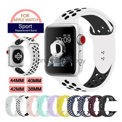Breathable Silicone Sport Strap For Apple Watch Band Series 4 3 40mm 44mm 42mm