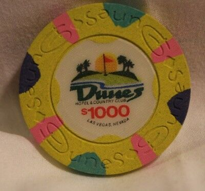 DUNES $1000 casino chip  NEW Uncirculated
