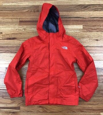 The North Face Hyvent Jacket Hooded YOUTH BOYS Orange Sz 10/12 M