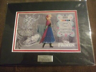 Disney Princess Anna from Frozen Hot Topic Character Key ACME LE 2500 NIP w/ COA
