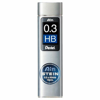 Pentel Ain Stein Mechanical Pencil Lead 0.3mm HB 15 Leads C273-HB