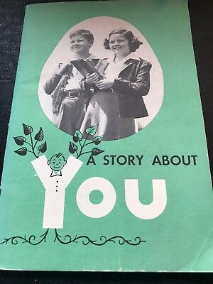 A Story About YOU 1955 AMA Pamphlet for Children in Grades 4, 5, 6 (9-12 years)