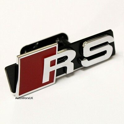 New RS Front Grill Badge Emblem Decal Logo Sticker Audi Sport