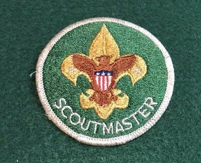 Never Used 1980s Boy Scout Mylar TRAINED Scoutmaster Patch
