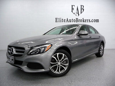 2015 Mercedes-Benz C-Class C300 4MATIC *NO RESERVE* NEW TIRES-CLEAN CARFAX-PANORAMA SUNROOF-NAVIGATION-KEYLESS GO
