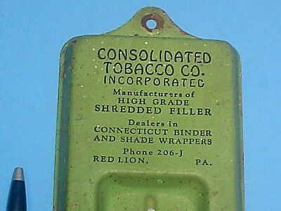 VINTAGE 1930's CONSOLIDATED TOBACCO CO. RED LION PA THERMOMETER