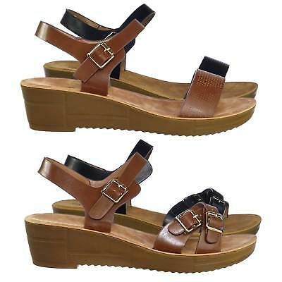 1fabed44eb5 Cozy Comfortable Rubber Low Wedge Open Toe Dress Sandal