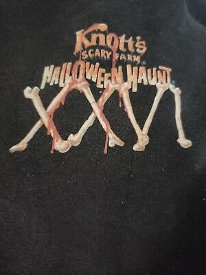 Knotts Scary Farm 26th Halloween Haunt Pullover Sweatshirt with Hoodie Black XL
