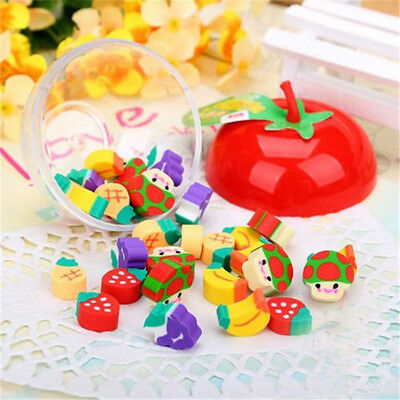 50pcs Cute Mini Fruit Rubber Pencil Eraser For Child Stationery/Gift/Toy Study B