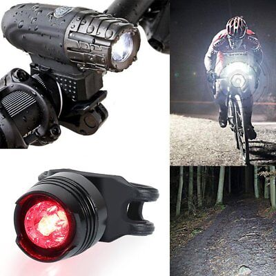 USB Rechargeable Bright LED Bicycle Bike Front Light TailLight For Mountain Bike