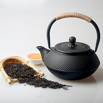 Best Health Care Cast Iron Chinese Teapot Dot Style,Black (800ml/20oz)