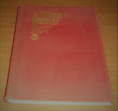 Vintage 1906 Book Rand McNally The World & It's People -Maps Politics Geography