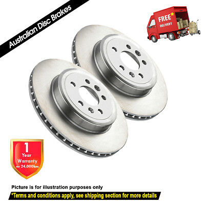 FORD Courier 2.5L 2.6L RWD 2WD 255mm 1996-12/2006 FRONT Disc Brake Rotors (2)