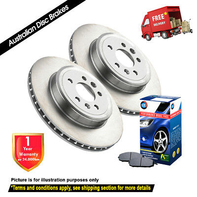 FORD Courier PD 2WD 255mm 05/96-02/99 FRONT Disc Rotors (2) & Brake Pads (1)