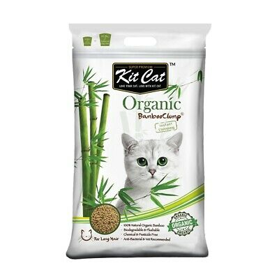 Kit Cat Flushable Biodegradable Clumping Bamboo Litter for Long Haired Cats -3kg