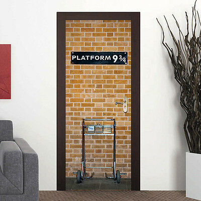3D Self-Adhesive Harry Potter Platform 9 3/4 Door Wall Sticker Wrap Mural Decol