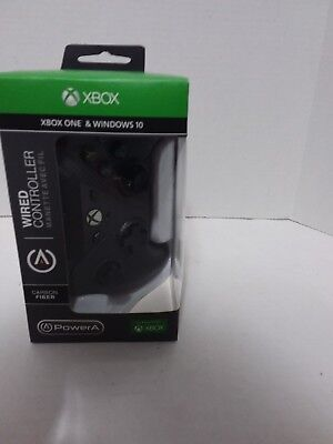 NEW Power A Wired  black Controller Xbox One And Windows 10