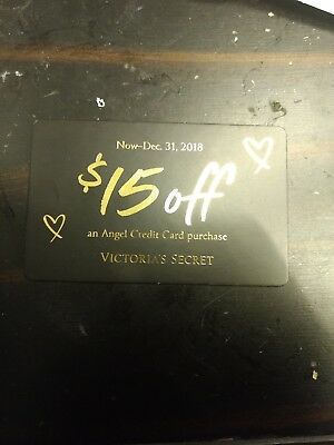 Victoria's Secret $15 off angel card purchase Online only exp December 31st