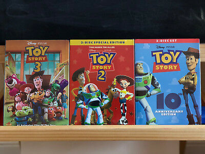 Toy Story DVD Complete Set 1 2 3  FREE SHIPPING NEW & SEALED!