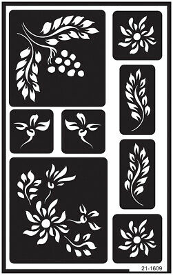 Happily Ever After Armour Products Over N Over Glass Etching Stencil 5-Inch by 8-Inch