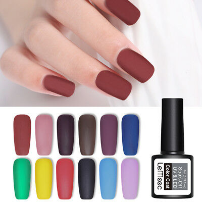 LEMOOC 8ml Matte Color Gellack Soak Off Nagel Kunst UV Gel Nail Polish Maniküre
