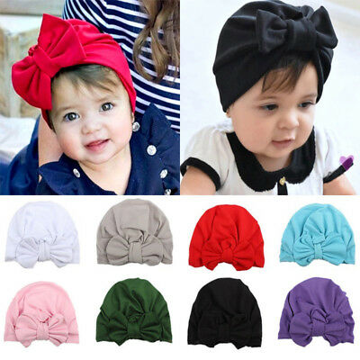 1Pcs Newborn Infant Girl Warm Beanie Hat Toddler Baby Soft Turban Knot Bow Cap