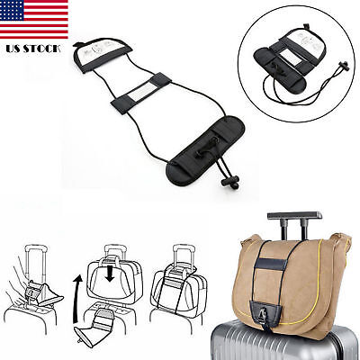 2pcs Adjustable Travel Luggage Suitcase Belt- Add A Bag Strap Carry On Bungee US