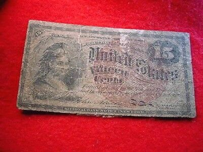 Fourth Issue Fractional Currency 15 Cents Smaller Red Seal Fr # 1271!!   #1175
