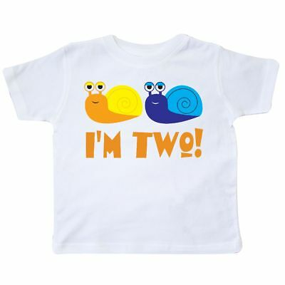 e09fd1026 Inktastic Cute 2nd Birthday Snails 2 Year Old Boy Toddler T-Shirt Im Two  Second