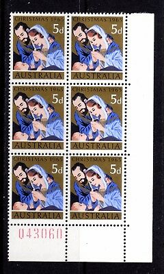 1965 ***MUH*** 5d CHRISTMAS - SHEET # 043060 - CORNER BLOCK of 6 - MAGNIFICENT.