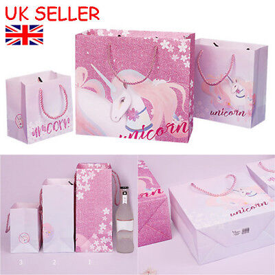 2b144c3372 Unicorn Paper Gift Bags Paper Carrier Bag Party Bag With Handle Present  Wrapper
