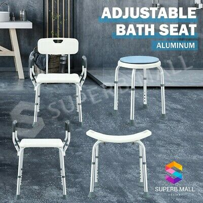 Adjustable Height Bath Shower Chair Stool Seat Bathtub Aid Bench Bathroom Safety