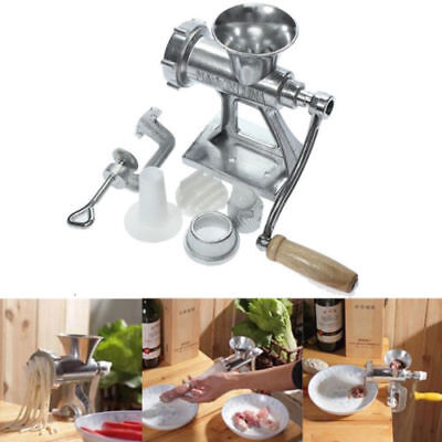 Portable Stainless Steel Electric Meat Grinder Mincer Machine Stuffer Home Tool