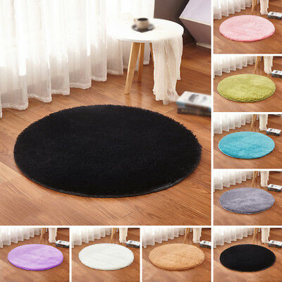 1x Fluffy Rugs Anti-Skid Shaggy Area Dining Room Home Bedroom Carpet Floor Mat #