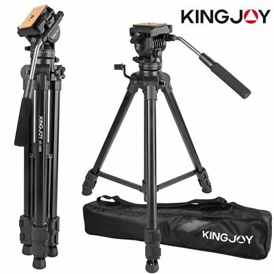 "Professional Heavy Duty 65"" DV Video Camera Tripod Stand w/Fluid Pan Head Kit GP"