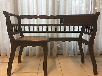 vintage telephone table and seat