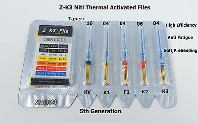 Endodontic Z-K3 NiTi Rotary Files Root Canal Heat Activated 25mm Dental 2Pk/10Pc