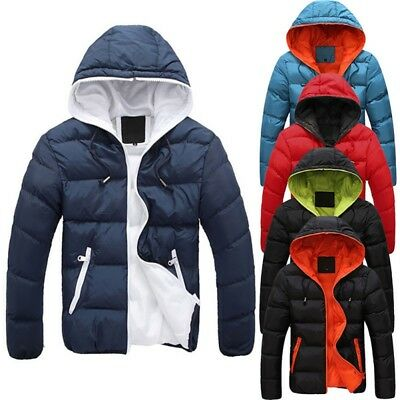 Men's Winter Warm Ski Jacket Snow Thick Casual Loose Hooded Puffer Coat Outwear
